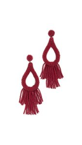 Deepa Gurnani Rachel Earrings Red | Pretty All Around Blog Gift Guide