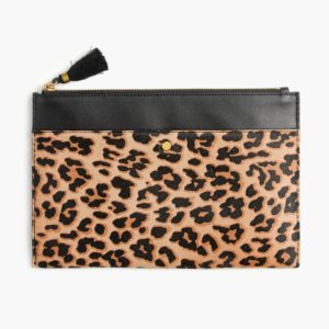 JCREW Leopard Clutch | Pretty All Around Blog Gift Guide