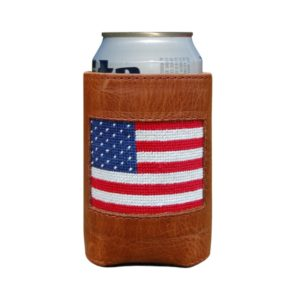 gift guide, blogger, pretty all around blog, leather can coozie, can holder, coozie, american flag